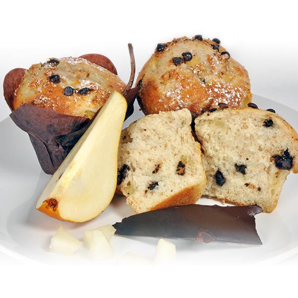 Pâte à muffins poire et chocolat